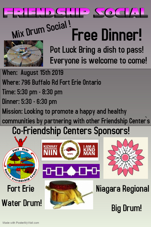 Friendship Social @ Fort Erie Friendship Centre